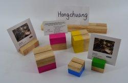 مبتكر تصميم مكتب مذكّرة قالب حامل خشب أن يمسك بطاقة/صورة/ورقة/[نم كرد]