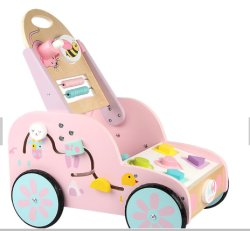 Neues Spielzeug Kinderwagen Musik Pädagogische Juguetes Geschenk Lehrhilfe Beschäftigt Holzwagen