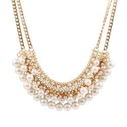 Diseño de Moda mayorista Top mujer collares joyas Accesorios exagerado Collar de perlas