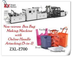Automatischer nichtgewebter Kasten-Beutel-Griff-Beutel-Gewebe-Beutel Eco Beutel, der Maschine mit Schleifen-Griff-Dichtung herstellt