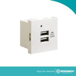 Los cargadores de pared USB Socket para el teléfono y la almohadilla