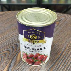 가벼운 시럽에 있는 중국 건강식 과일 통조림 신선한 딸기
