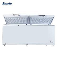 congelatori di frigorifero profondi della grande del doppio portello 956L cassa orizzontale commerciale del supermercato