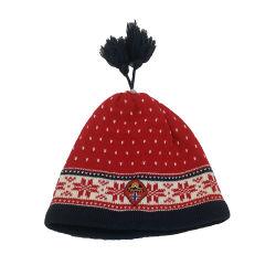 POM POM 100%Acrylicの帽子が付いている卸売によって編まれる帽子