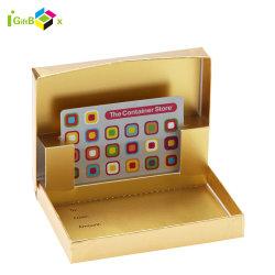 Envases de papel personalizado de gama alta de tarjeta de crédito o tarjeta de presentación/Tarjeta de boda Caja de tarjetas de regalo