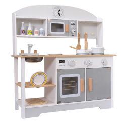 Os Chefs de madeira fingir Reproduzir conjuntos gourmet cozinha de brinquedo em branco