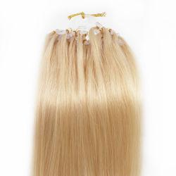 ブロンドのマイクロリンクRemyの人間の毛髪の拡張#27乾燥した取除かないこともつれ無し