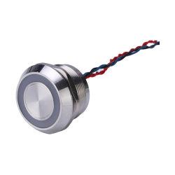 Il tocco momentaneo capo IP68 IL LED 12V di smusso impermeabilizza l'interruttore piezo-elettrico