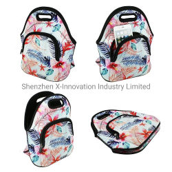 Горячий долговременных продаж 4мм толщина настраиваемые схемы женская сумка с обедом из неопрена