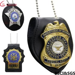China direkter Hersteller mit Disney, Sedex, Sedex Cap, NBC, ISO9001 und BSCI Audit Lieferant Professional tun Custom Military Army Security Metal Police Badge