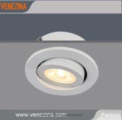 3W LED encastré IP44 Cabinet Downlight Affichage réglable découpe Spotlight 50mm Garantie de 5 ans