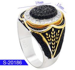 Groothandel New Fashion Silver Jewelry Kubieke Zirconia Stone Ring Voor De Mens
