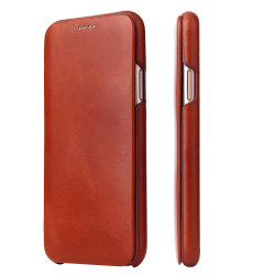Erstklassiger Genuine Leather Handy Wallet Fall für iPhone X