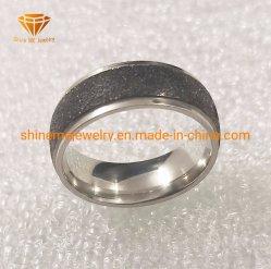 Стабилизатор поперечной устойчивости Покрытие черного цвета песка кольцо из нержавеющей стали на поверхности тела украшения SSR1989