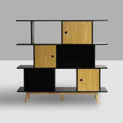 Madera de 3 niveles económicos libro moderno Stand Shelfs Rack Factory