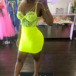 2019 Crazy продавать Sexy кружевом платье ML8796 с алмазной ремни