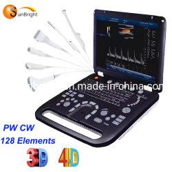 최고 기준 제 2 3D 4D Cw 색깔 도풀러 초음파 기계