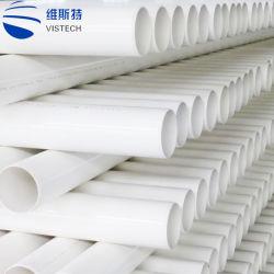 Peso ligero de drenaje de aguas residuales de alta presión del tubo de PVC