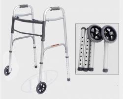 2 Botão de alumínio leve andador dobrável andador dobrável