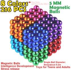 5 mm de diamètre 216pcs Neocube boule magnétique coloré