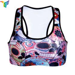 Commerce de gros de vêtements d'entraînement de fitness de haute qualité filles Slim Soutien-gorge de sport femmes imprimé personnalisé