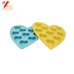 Heet verkoop de Chocolade van de Vorm van de Cake van het Silicone van de Vorm van het Hart van de Douane van de Rang van het Voedsel voor Koekjes (x-y-cm-371)