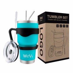 Vaso vacío de acero inoxidable al por mayor consumo de café Sippy reutilizable secadora Cup