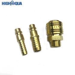 Diferentes tamaños de OEM de latón y acero inoxidable hidráulico de acoplamiento rápido de montar