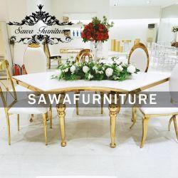 Hochwertige Tischsets Aus Hochwertigem Modernen Design Aus Marmor Top Aus Edelstahl Für Hochzeitsveranstaltungen