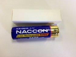 Batteria ricaricabile delle cellule dello Li-ione di marca 18650 1500mAh 3.7V di Naccon dal fornitore originale della batteria di Awt per la sigaretta elettronica