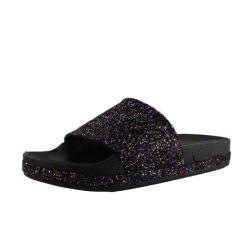 Les femmes Crystal Faites glisser des pantoufles, un logo personnalisé Diapositive Slipper sandale femmes pantoufle Crystal Diapositive