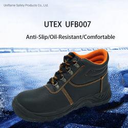 PU Sole En Pele genuína de aço do setor industrial segurança do TOE calçado para homem pas/S1/S3