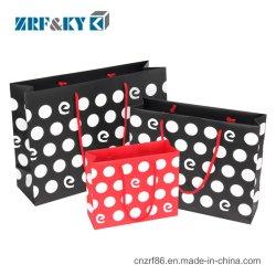 Impresso reutilizáveis personalizado Arte preto/vermelho/Coated mão Bolsa Sacola de Compras