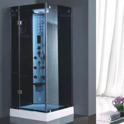 Один человек квадратного акрилового бруска лоток в ванной комнате Компактный паровой душ