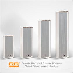 卸し売り屋外アルミニウムコラムのスピーカー180Wは構内放送のためのスピーカー100Vを防水する