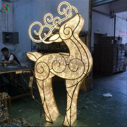 De decoratieve Reuze Grote 3D LEIDENE van het Beeldhouwwerk van het Rendier Lichten van het Motief voor de Decoratie van het Huwelijk