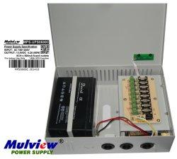 4 canais 12V5a 60W Câmara CCTV de Controle de Acesso ao Sistema de Alarme Backup UPS Carregador de bateria de alimentação de potência da caixa de distribuição