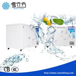 Kommerzielle doppelte Tür-angeschaltene Brust-Solargefriermaschine