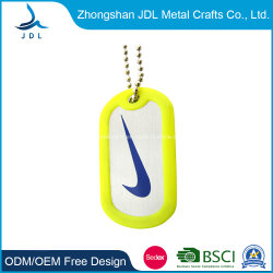 도매 중국 주문 제작 금속 다이 주조 화려한 인쇄 이글 로고 군사 독 태그