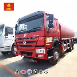 HOWO 20cbm 6X4 336HP 큰 수용량 연료 유조선 기름 트럭