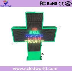 P10 Outdoor LED programmable Croix de la pharmacie L'écran
