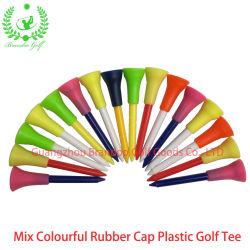 Golf personnalisés Manufactuurer Mix capuchon en caoutchouc coloré Tee de golf en plastique
