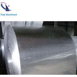 Parfaite qualité gaufré de stuc feuille en aluminium anodisé