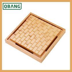Gongfu chinas de bambú Bandeja box set de té