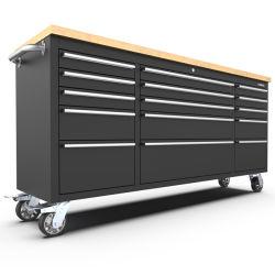Kinbox 15 Kabinet van het Hulpmiddel van de Lade het Op zwaar werk berekende de Kar van het Hulpmiddel van 72 Duim voor AutoReparatie