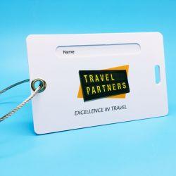 Bajo precio de promoción de Viajes Nombre de PVC insignias de la tarjeta de nombre de las etiquetas de equipaje para el panel de firma