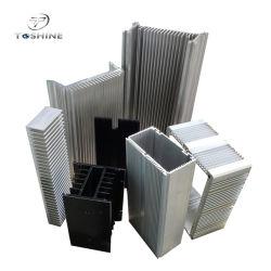 Anodisierte 6063/6061 Aluminiumkühlkörper-Strangpresßling-Profile mit silbriger, schwarzer Farbe