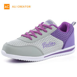 2019 Commerce de gros Fly plate-forme d'injection de tricot occasionnels Chaussures femmes