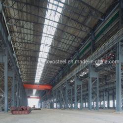 Het Pakhuis van de Structuur van het Staal van de direct-Verkoop van de fabriek met binnen het Spoor van de Kraan