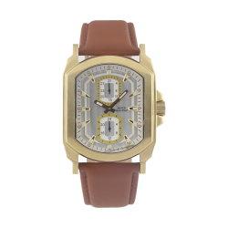 Caja cuadrada de tres a cuatro manos reloj mujer correa de cuero Sub-Dials Logotipo personalizado